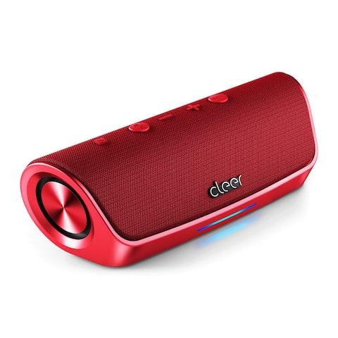 Cleer Stage Amazon Alexa Enabled, Portable Bluetooth Speaker (Red)