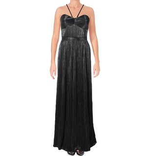 Laundry by Shelli Segal Silver Womens Size 0 Pleated Gown Dress