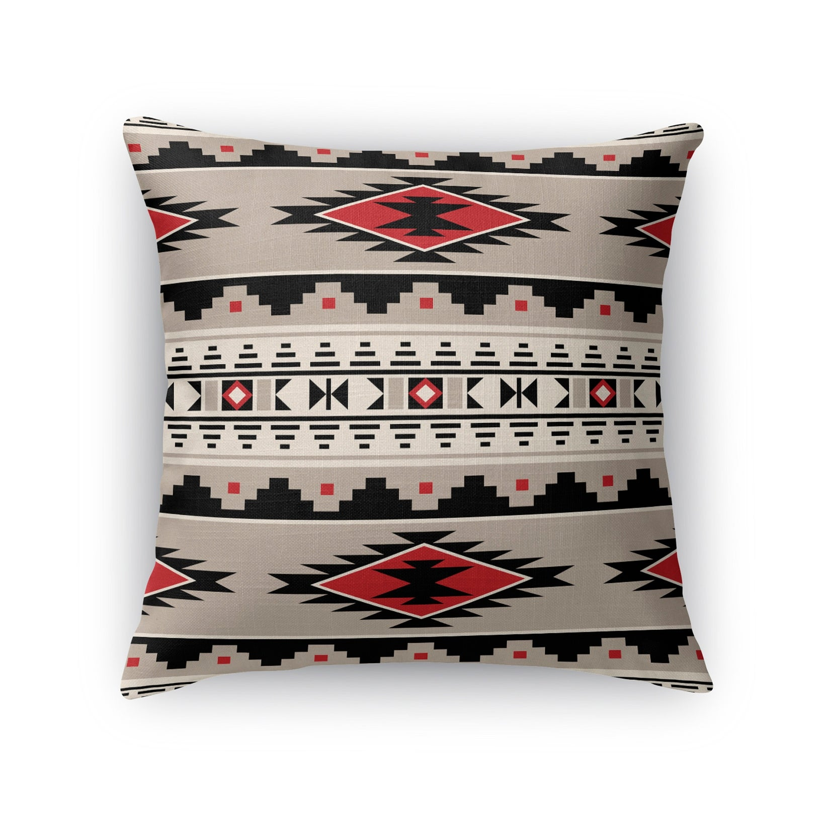 Kavka Designs Red Cherokee Red Accent Pillow With Insert Overstock 16937084