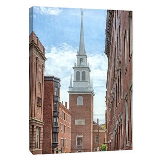 "PTM Images 9-106013  PTM Canvas Collection 10"" x 8"" - ""North Church Steeple"" Giclee Buildings and Cityscape Art Print on Canvas"