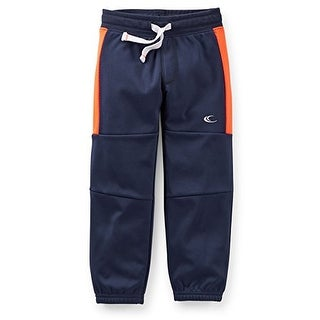 Carter's Baby Boys' Tricot Active Pants - 12 Months - Navy with Orange Stripe