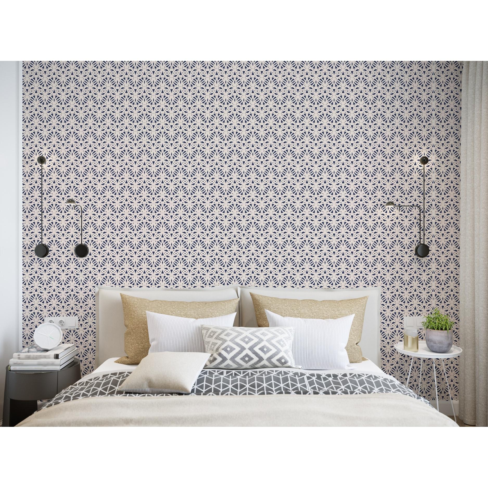 Shop Sbc Decor Egyptian Cotton Removable Peel Stick Vinyl Wallpaper Panel Overstock 32029295