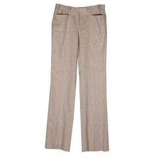 Tommy Hilfiger Tan Classic Linen-Blend Trousers 0