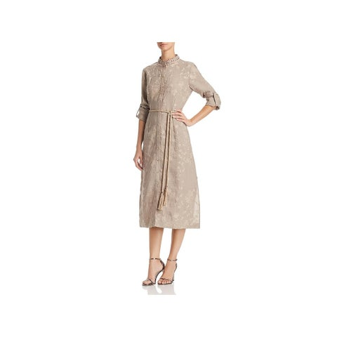 T Tahari Womens Millie Shirtdress Floral Cocktail