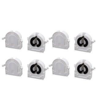 8Pcs AC 500V 2A G13-F41B T8 Light Socket G13 Base Fluorescent Lamp Holder White