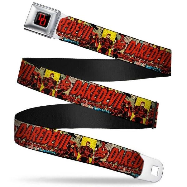 Marvel Universe Daredevil Dd Logo Full Color Black Red Daredevil The Man Seatbelt Belt
