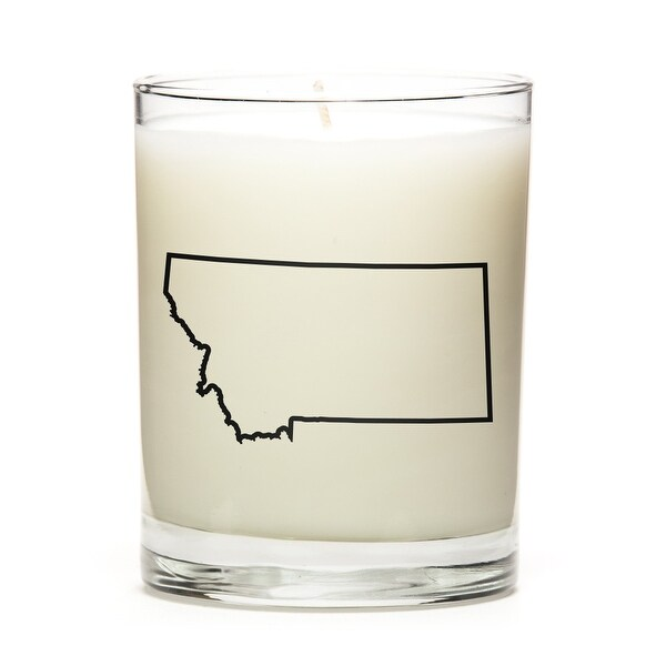 Custom Candles with the Map Outline Montana, Lemon