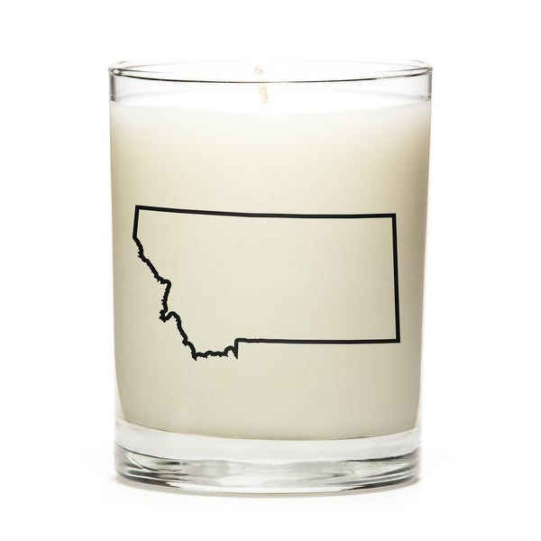 Custom Candles with the Map Outline Montana, Vanilla