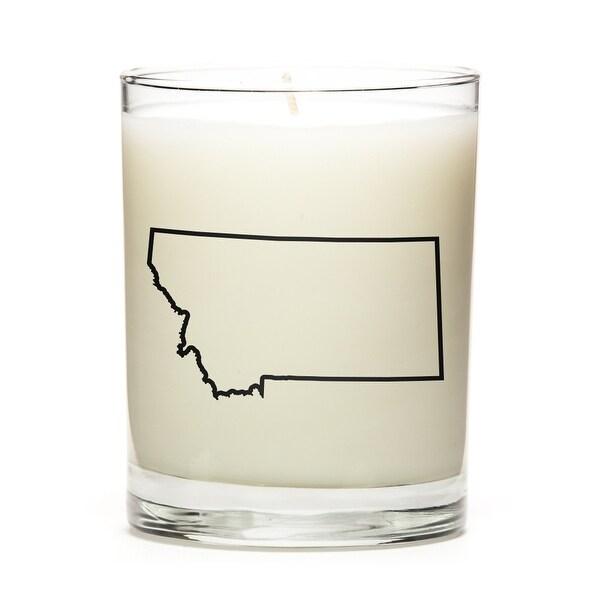 Custom Gift - Map Outline of Montana U.S State, Apple Cinnamon