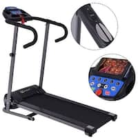 Goplus 1100W Folding Treadmill Electric Support Motorized Power Running Fitness Machine - as pic