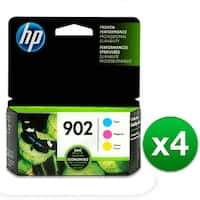 HP 902 3-Cartridges Tri-Color Original Ink Cartridges (T0A38AN)(4-Pack)