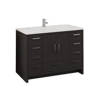 """Fresca FCB9448-I  Senza 48"""" Free Standing Single Basin Vanity Set with MDF Cabinet and Acrylic Vanity Top"""