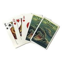 Alexandria, LA - Alligators - LP Artwork (Poker Playing Cards Deck)