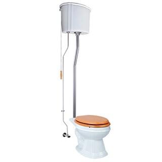 High Tank Toilets White Ceramic Tank Elongated High Tank Toilet