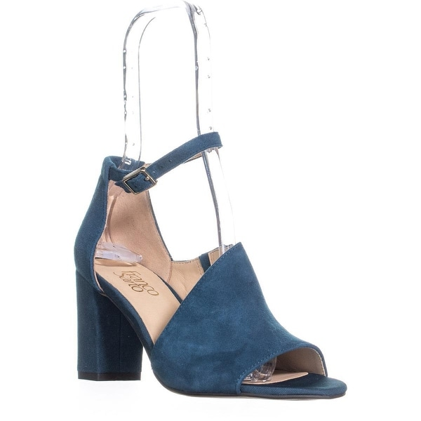 e1d2a3ce9c Franco Sarto Gayle Ankle Strap Block Heel Sandals, Green - 6.5 us / 36.5 eu