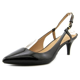 Calvin Klein Patsi Pointed Toe Patent Leather Slingback Heel