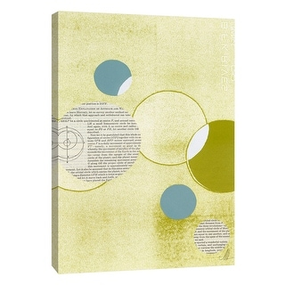 """PTM Images 9-105230  PTM Canvas Collection 10"""" x 8"""" - """"Light Lime Word Bubble"""" Giclee Abstract Art Print on Canvas"""