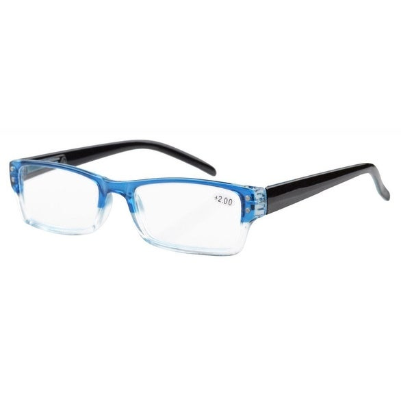 Eyekepper Spring Hinges Reading Glasses Men Women With Case Blue +0.50