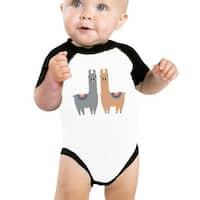 Llama Pattern Baby Raglan Shirt