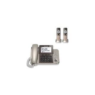 Panasonic KX-TGF352N 3 Handset Corded / Cordless Phone W/ Night Mode