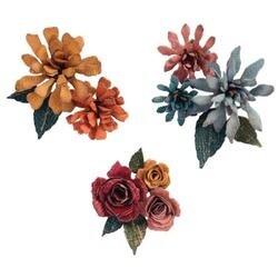 Tiny Tattered Florals - Sizzix Thinlits Dies 15/Pkg By Tim Holtz