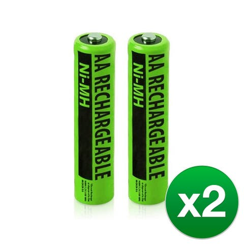 Replacement Panasonic HHR-65AAABU NiMH Cordless Phone Battery - 630mAh / 1.2v (2 Pack) - Multicolor