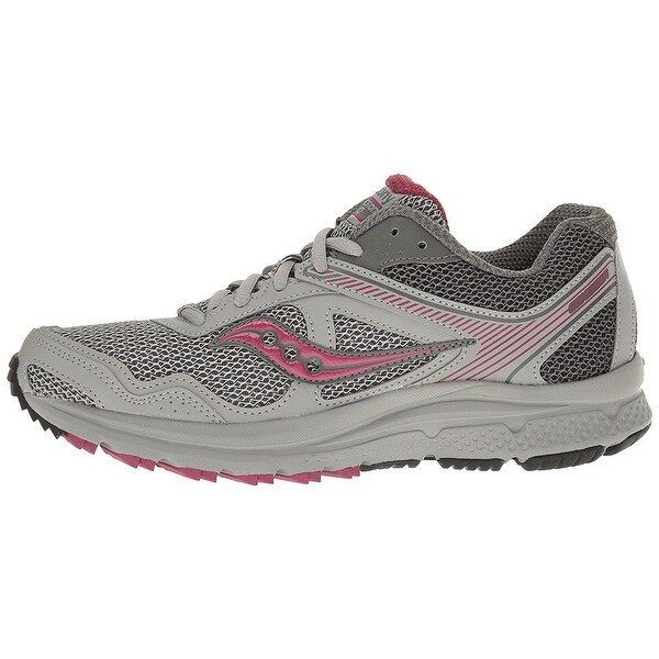 Saucony Womens saucony Low Top Lace Up Running Sneaker, Grey plum, Size 6.5
