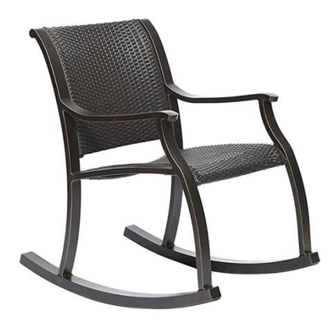 Moda Alum wicker rocker chair