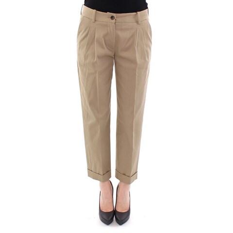Dolce & Gabbana Dolce & Gabbana Beige Cotton Cropped Chinos Pants