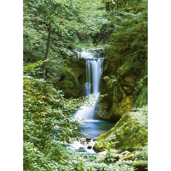 Brewster DM364 Waterfall In Spring Wall Mural - N/A