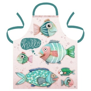 Hello Fish in the Sea Kitchen Apron Printed Cotton