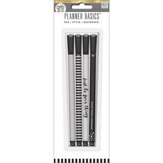 Create 365 Happy Planner Ink Pens W/Black Ink 4/Pkg-Black & White Designs