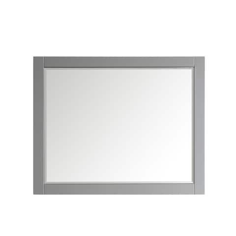 """Florence 48"""" Rectangular Bathroom/Vanity framed Wall Mirror in Grey - 48 inches"""