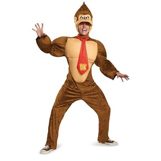 Adult Deluxe Donkey Kong Super Mario Costume (2 options available)