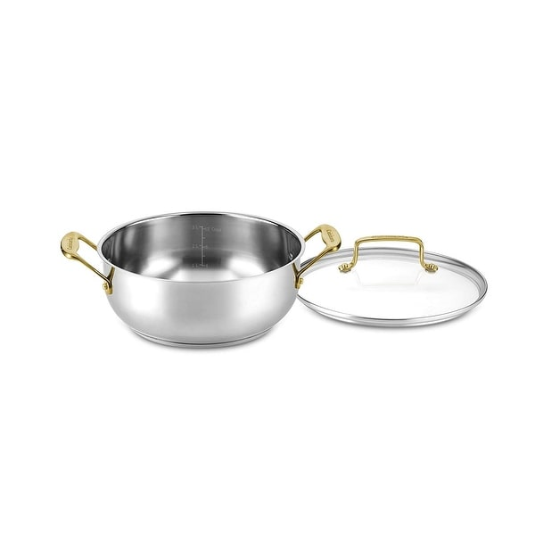Cuisinart C7M44-24GD Mineral Collection 4 Quart Dutch Oven with Cover, Stainless Steel. Opens flyout.
