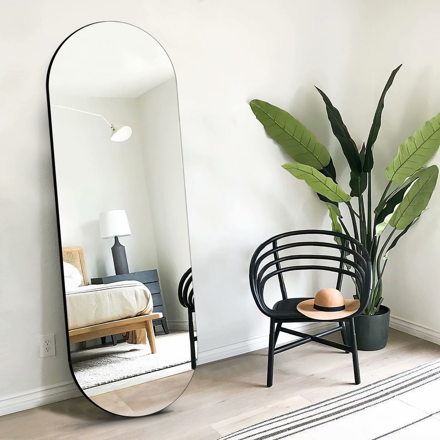 64 X21 Modern Ins Style Full Length Arch Mirror Floor Mirror Overstock 32321778 64x21 Gold