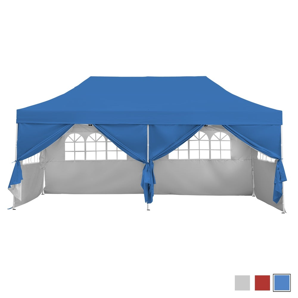 10X20 Pop Up Gazebo Canopy Tent with Sidewalls (3 color options)