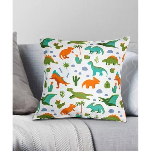 Dinosaur Park Decorative Throw Pillow 18x18