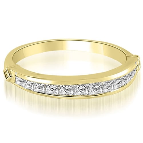 0.60 cttw. 14K Yellow Gold Classic Channel Set Princess Cut Diamond Wedding Band