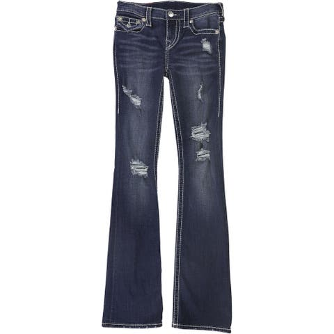 True Religion Womens Into The Night Boot Cut Jeans
