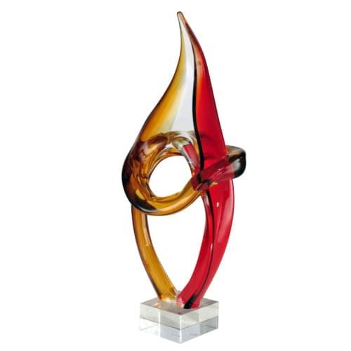 """Dale Tiffany AS13078 Paglia Art 7"""" Sculpture - multi-colored glass"""