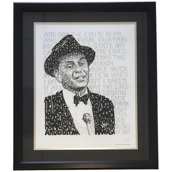 Frank Sinatra Framed 16x20 Word Art Photo - Free Shipping Today ...