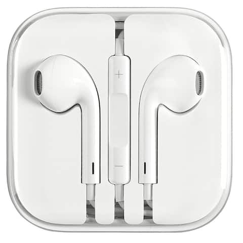 EarPods with Remote and Mic compatible with iPhone & iPad - Bulk - White - 5 X 6 X 0.5