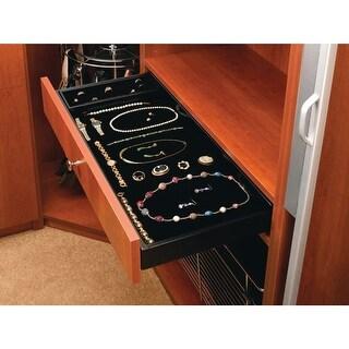 "Rev-A-Shelf CVJD-3014UM-1 CVJD Series 30 x 14"" Under Mount Velvet Jewelry Drawer with Slides - Black"