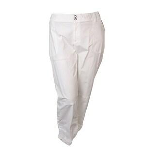 INC International Concepts Women's Ruched Zip-pocket Pants