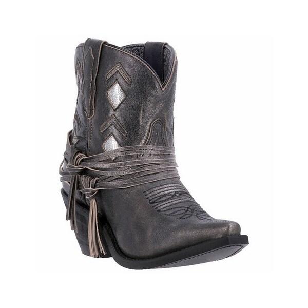 Laredo Western Boots Womens Jett Fringe Snip Black Silver