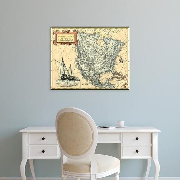 Easy Art Prints Vision Studio's 'North America Map' Premium Canvas Art