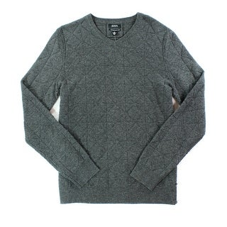 Alfani NEW Gray Charcoal Mens Size Medium M V-Neck Wool Sweater