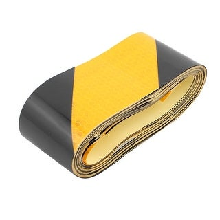 5cm x 5M Honeycomb Reflective Single Sided Warning Tape Tilt Black Yellow