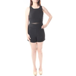 BCBGENERATION $237 Womens New 1209 Black Sleeveless Zippered Romper 4 B+B